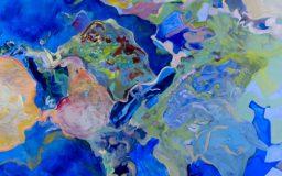 Outre-mer 2017, pastelliliitu ja öljy kankaalle, 200x150