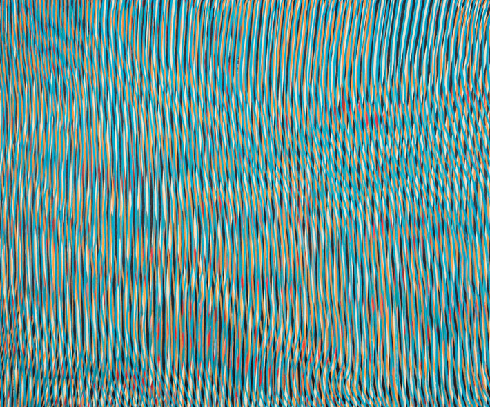 Rill Rill, 2018, acrylic on board, 60 x 50