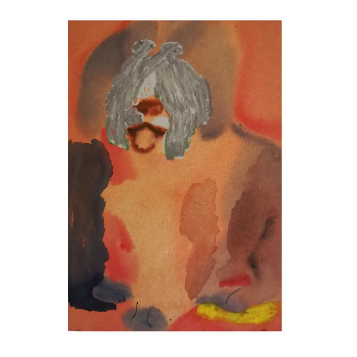 Hanna Hyy: Passive Aggressive, 2019, 35x25cm, vesiväri MDF-levylle