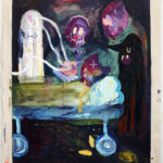 Nykypsykiatria 1 / 162 x 132 / akryyli ja öljy kankaalle, 2016