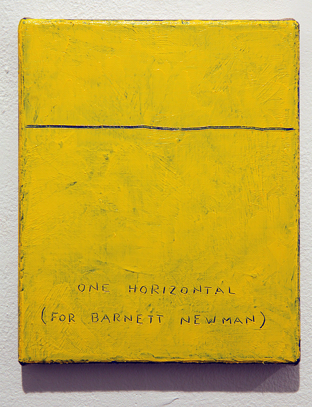 One horizontal (For Barnett Newman)