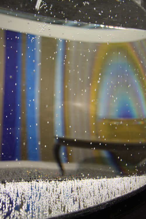 Anna Broms' works seen through Kasper Muttonen's Water Lense (Evidence Room - Galleria Huuto in Supermarket 2018)