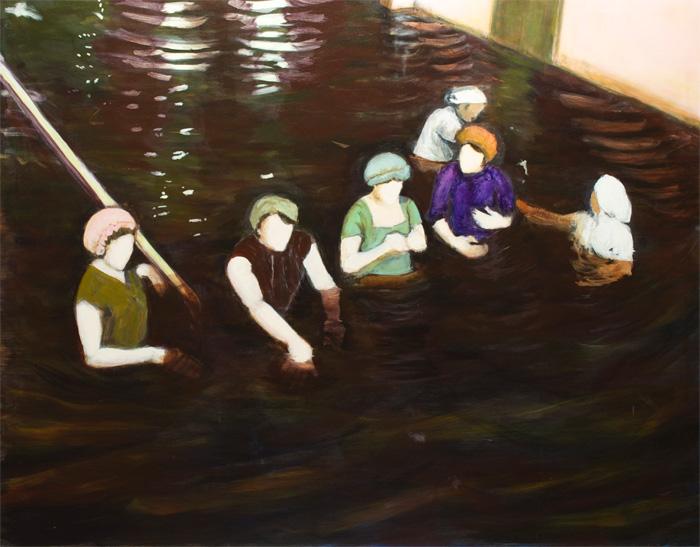 Jane Hughes: Muddy Waters, 2020, acrylic on canvas, 110 x 140 cm