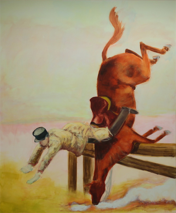 Jane Hughes: The Fall, 2020, acrylic on canvas, 150 x 180 cm