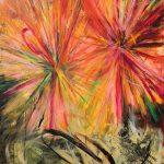 """Johanna Sipilä: """"Värit"""", öljy ja akryyli kankaalle, 180 x 135 cm, 2019"""