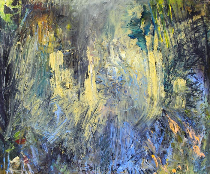 Johanna Sipila: U-käännös (U-turn), öljy kankaalle (oil on canvas), 59 x 71 cm, 2019