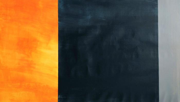 Marjo Hallila - Notes of Emotions II, 300 cm x 90 cm, Akryyli kankaalle, 2016, Kuva: Paulina Mirowska