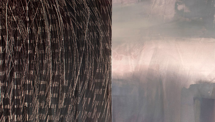 Marjo Hallila - Notes of Emotions III, 2016, 308 cm x 90 cm, Akryyli kankaalle, Kuva: Paulina Mirowska
