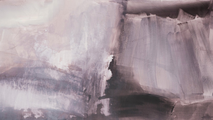 Marjo Hallila - Notes of Emotions VII, 2017, 315 cm x 90 cm Akryyli kankaalle, Kuva: Paulina Mirowska