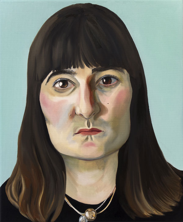 Matilda Enegren: Helmi, 50x60cm, oil on canvas, 2017.