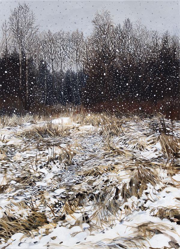 Matilda Enegren: Snö | Lumi, 65x90cm, oil on canvas, 2017.