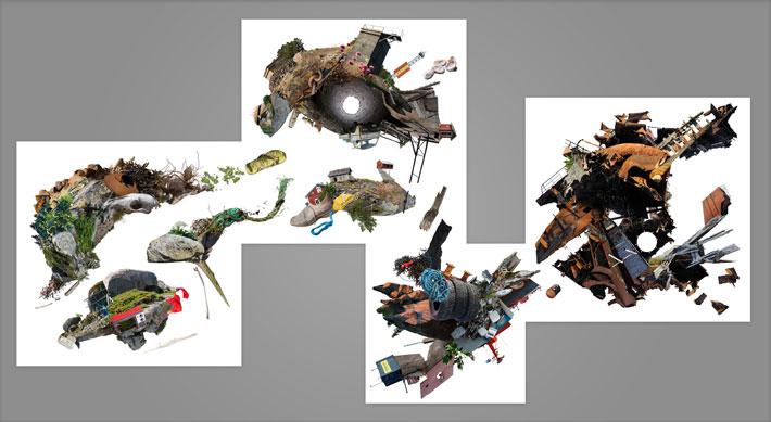 Nuutti Koskinen: Navigation by Day: Valokuvakollaasi(sarja), 2018, 290 x 154 cm