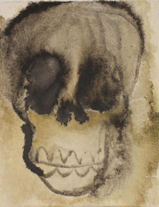SYVÄT ONKALOT (DEEP CAVITIES), muste, akvarelli ja grafiitti paperille (ink, water color and graphite on paper), 20 x 16cm, 2016