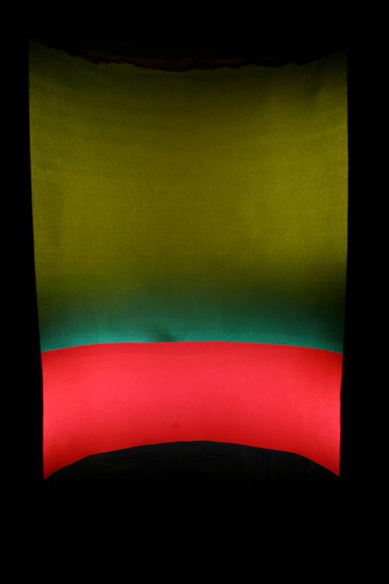 Sampo Malin: Syvällä väreissä, yksityiskohta teoksesta, mitat vaihtelee, 2018