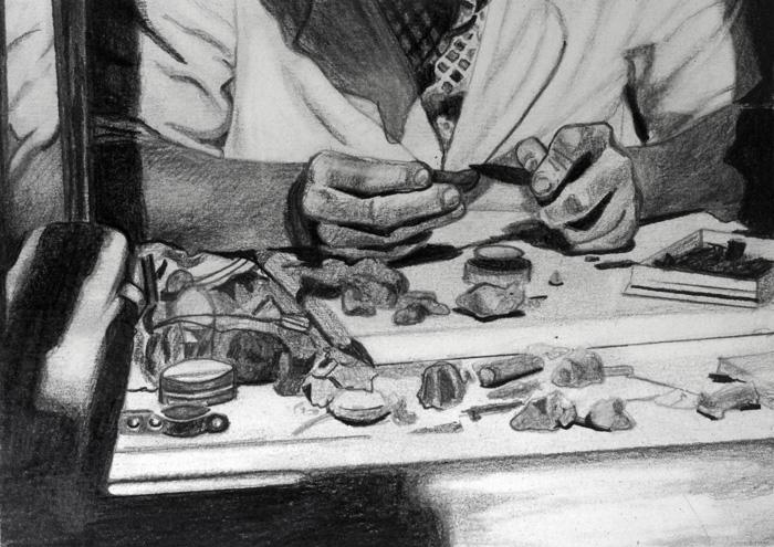 Taru Kallio: Kädet, detail, 2020, graphite on paper