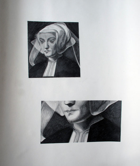 Taru Kallio: Mouth, 2020, graphite on paper, 45 x 60 cm
