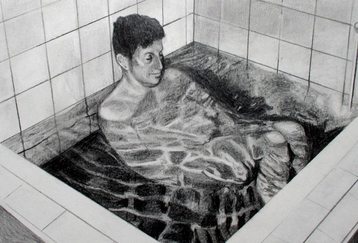 Taru Kallio: Untitled, 2019, graphite on paper, 63,5 x 53,5 cm