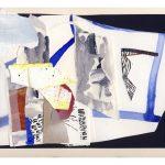 "Tero Kontinen: ""Sivupolkuja"", 32,5 x 24 cm, akryyliväri, akryylimuste ja akryylimarker paperilla, värikalvo, 2018"