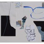 "Tero Kontinen: ""Aineeton elementti"", 83 x 63 cm, akryyliväri, akryylimuste ja akryylimarker paperilla, akryylispray, 2018"