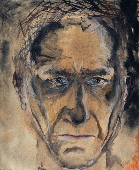 EKSYNYT (LOST), muste, akvarelli ja värikynät paperille (ink, watercolor and color pencils on paper), 33 x 27cm, 2015