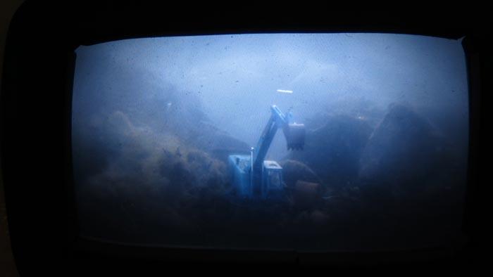 Veikko Björk ja Kaarina Ormio, Periskooppi, 2013, veistos ja videoluuppi, 60 x 130 cm