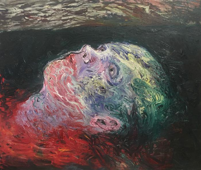 Ville Välikangas: Hauras matka, 146 x 125 cm, öljyväri kankaalle, 2020