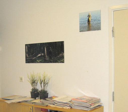 """Anja Helminen, """"Aino"""",still-kuva videomateriaalista, lambda-vedos kuparilevylle"""