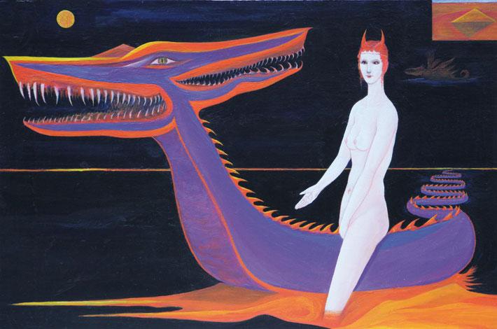 Nimetön, 2016, akryyli mdf-levylle, 50 x 33,2 cm