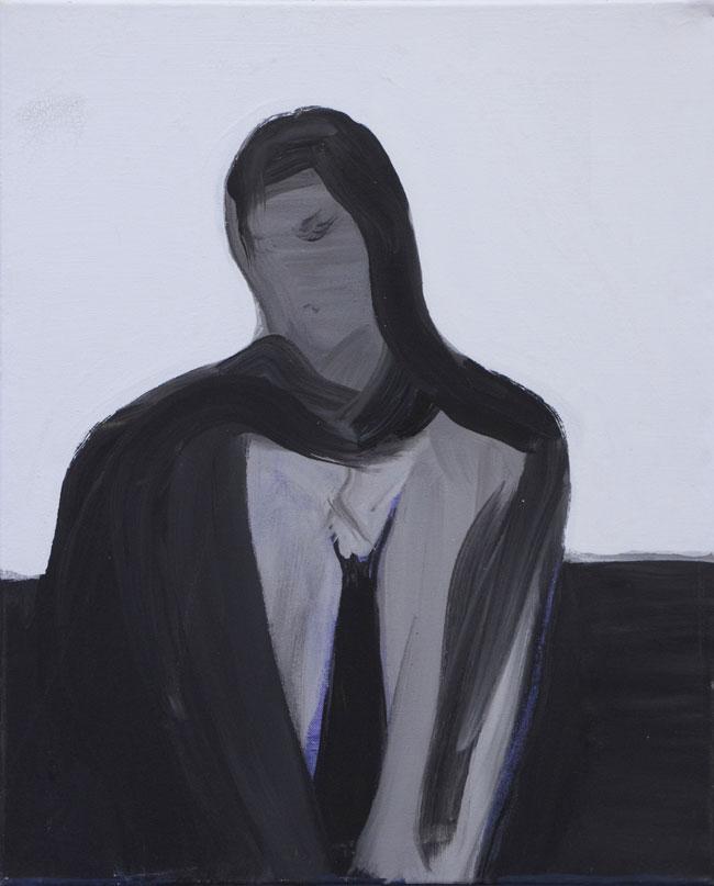 Nimetön, 2016, akryyli kankaalle, 50 x 60,5 cm
