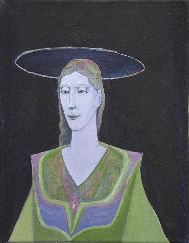 Nimetön, 2016, akryyli kankaalle, 25 x 31,5 cm