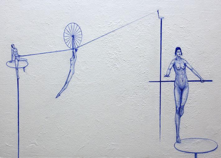 Nimetön, 2016, akryyli kovalevylle, 70 x 50 cm