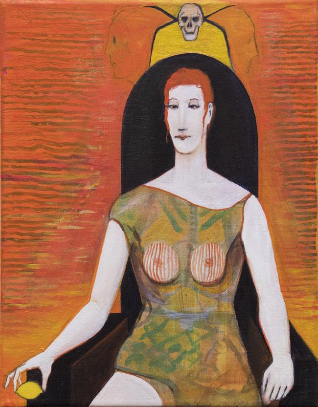 Nimetön, 2016, akryyli kankaalle, 25 x 31,6 cm