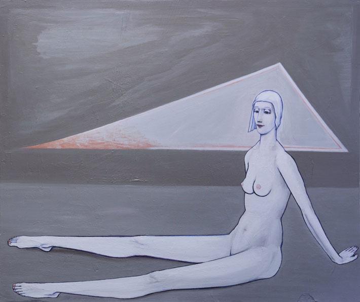 Nimetön, 2016, akryyli mdf-levylle, 114 x 96cm