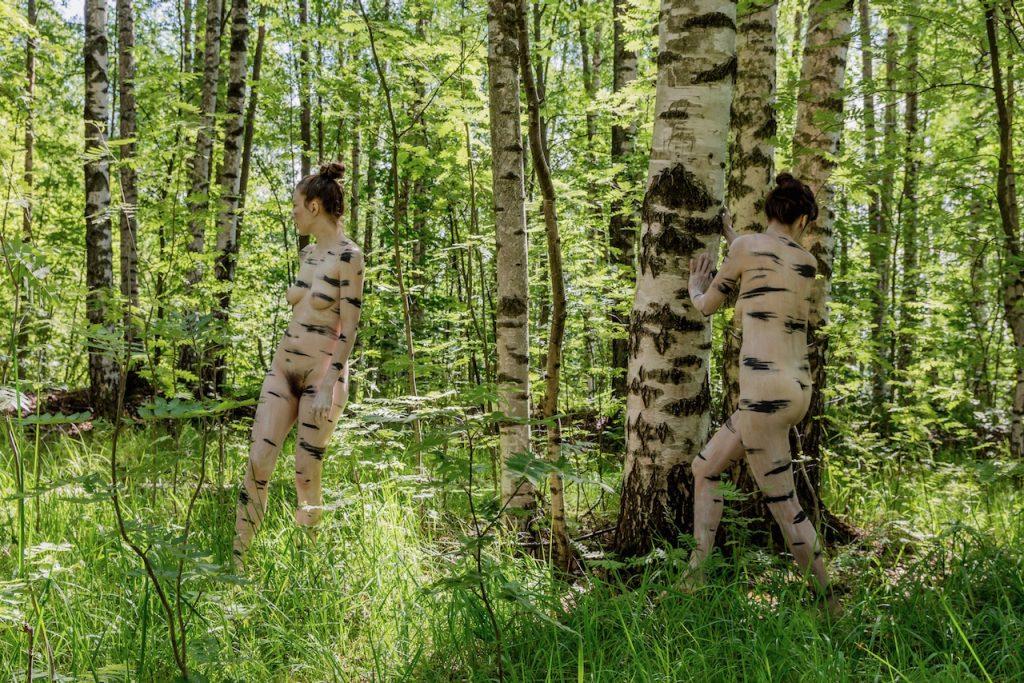 Linda & Aura, Birchwomen, 2018, photo: Jan Ahlstedt