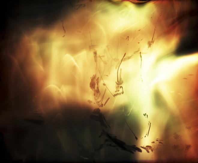 Burning b&w sheet negative II