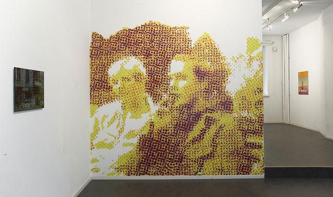 Doin' it in the Park, 2007, akryyli ja spraymaali seinään, 296 x 270 cm