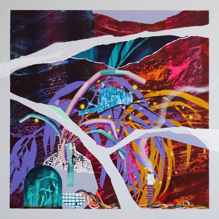 Milla Kuisma: Hiljainen yöelämä, 2021, öljy ja akryyli kankaalle, 100 x 100 cm