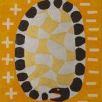 Gunzi Holmström: Pyhä käärme, 2017, öljyvärimaalaus MDF-levylle, 80x60cm