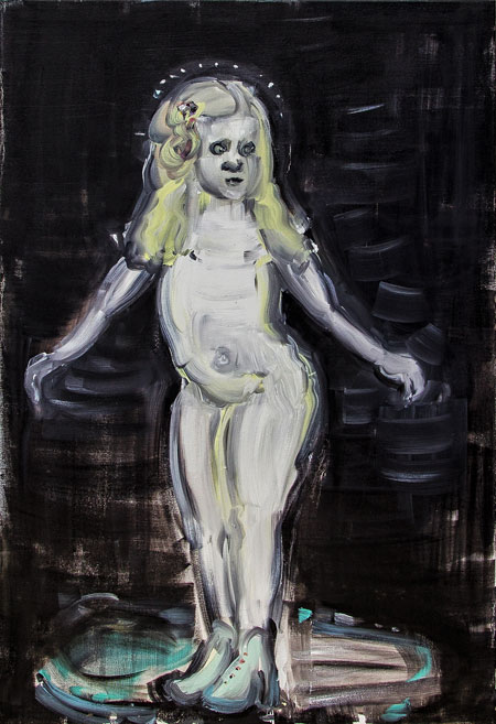 Itsevalaiseva, 126x81 cm, 2016, öljy kankaalle (kuva: Mikko Erholz)