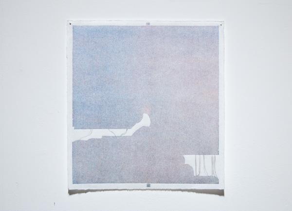 Jenni Rahkonen: Matkasuunnitelma / Itinerary, 2021, woodcut & pencil on paper, T.p.l'a 1/1