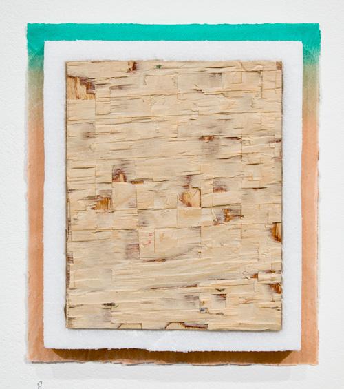 Jenni Rahkonen: Action 1, 2021, screenprint on handmade paper, styrofoam, plywood