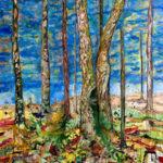 """Mauri Kuitula. """"Sukupuut"""", akryyli- ja öljyvärimaali kankaalle, 170x140 cm, 2008."""