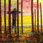 "Mauri Kuitula. ""Menetetty lakeus"", akryylimaali kankaalle, 170x200 cm, 2008."