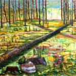 """Mauri Kuitula. """"Kaadettu"""", akryylimaali kankaalle, 145x170 cm, 2008."""