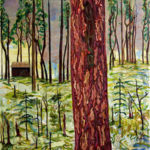 Hän, akryyli- ja öljyvärimaali kankaalle, 150 X 120 cm, 2008. Kuva: Mauri Kuitula