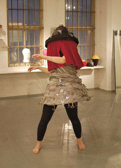 Mimosa Pale & Kaarina Ormio: Face Theatre Hat, Samurai Dress