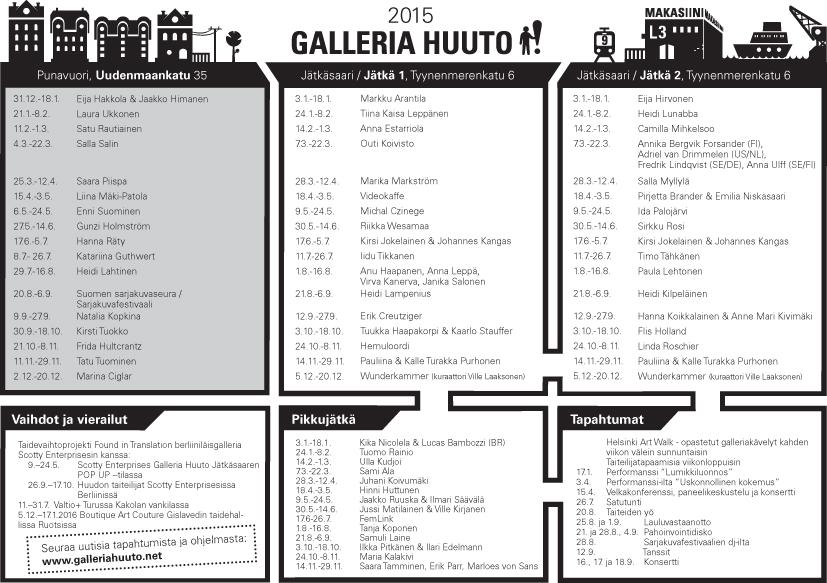 Näyttelykalenteri 2015