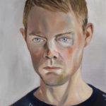 Matilda Enegren: Richard, 46x55 cm, oil on canvas, 2017
