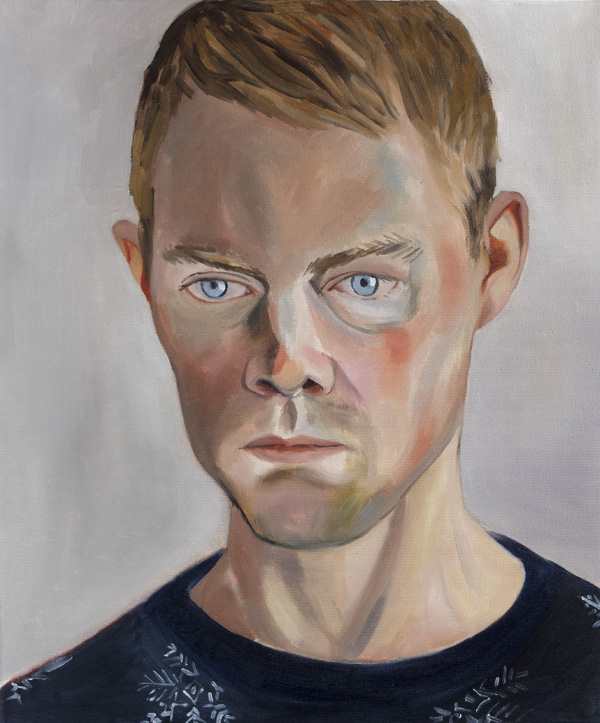 Matilda Enegren: Richard, 46x55 cm, oil on canvas, 2017