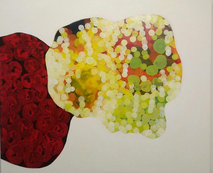 Panu Ruotsalo: Ruusut ja syksy, 100x120 cm, öljy kankaalle, 2015